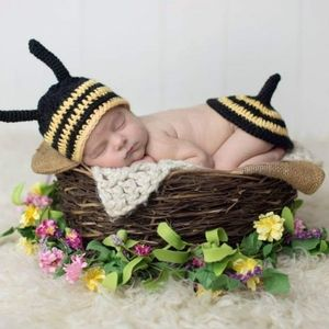 Other - Bumble bee newborn photo outfit prop